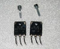 Sherwood  B1647 & D2560 Output transistor set for model  RX-5502 receiver Tested