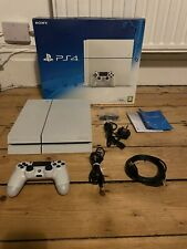 Sony PlayStation 4 500GB White Console, Controller, Leads, And 2 Games