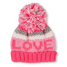 Toddler Girls 'SUPER' Pom Pom Beanie Hat HAT size L (8+YR)