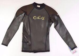 O'Neill Gooru Style #2277 Femmes Long Manche Combinaison Taille 4 Chocolat Noir