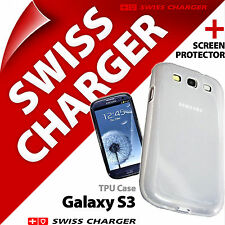 New Swiss Charger TPU Case Cover for Samsung i9300 Galaxy S3 + Screen Protector