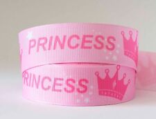 1M X 22mm Grosgrain Ribbon Craft DIY Xmas Decorations Hair Bows Princess Pink