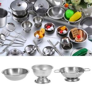16PC Kid Child Play House Kitchen Toy Cookware Cooking Utensils Pots Pans Gift