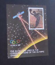 Guyana 1989 Olympics Korea 88 disc throwing MS miniature sheet fine used