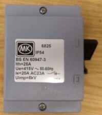 MK 6825 - 20 amp 2 pole 3 pole switch Disconnector IP54 - Quality Weatherproof