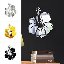 Espejo de Pared Adhesivo Acrílico Hazlo tú mismo fondo de núcleo de Flores Decoración De Habitación Pared Home Nuevo