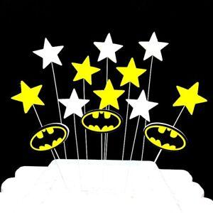 Batman Superhero Birthday Cake Topper Decorations