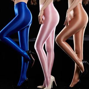 Women's Shiny Silky Pantyhose Satin Glossy Stockings Nylon Yoga Tights Dancewear