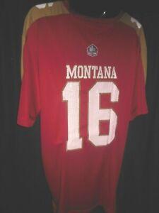 San Francisco 49ers Joe Montana #16 Men's Majestic Hall of Fame Jersey Big & Tal