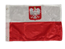 12x18 12''x18'' Polish Eagle Rough Tex Knitted Boat Premium Flag Banner Grommets