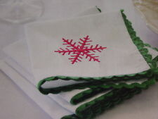 Set of 4 Linen Napkins Vintage Home Interiors & Gifts New My last one! Holiday