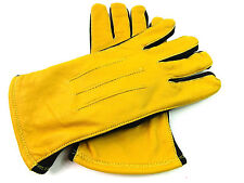 Womens Ladies Premium Quality Real Soft Leather Gloves Fleece Lined Driving