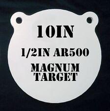 10 In. AR500 Gong Shooting Target - 1/2 Thk Rifle Target - 1pc. Steel Target Set