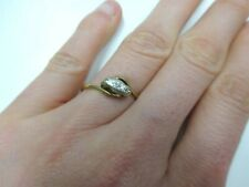 Vintage Design 18ct Gold Diamond Ring Size K with Platinum Setting