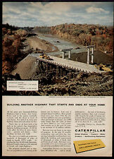 1959 BUILDING ANOTHER HIGHWAY CATERPILLAR AD
