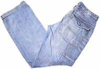 ROY ROGER'S Mens Jeans W34 L34 Blue Cotton Straight  AR12