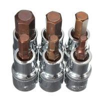 6mm to 14mm All Sizes Hex Key Bit Drive Socket Adaptors Tool He KI