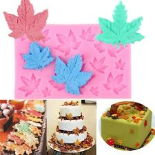 Maple Leaf Silicone Cupcake Baking Mold Christmas Fondant Cake Decorating Tools