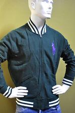 Polo Ralph Lauren Mens Green Cotton Fleece Blazer Jacket Full Zip Solid Sz XL
