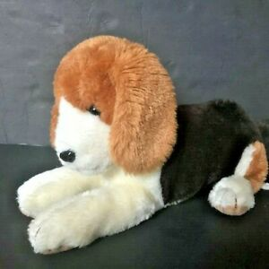 Vintage Russ Berrie Puppy Dog Plush Barclay Made in Korea Brown Tan Beagle