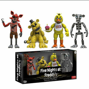Five Nights At Freddy's Foxy 4 PCS Action Figure Collection Kids Toy Doll Gift