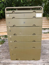 More details for  us military medical corps aluminium medical insert cabinet 7 drawer bank (3)