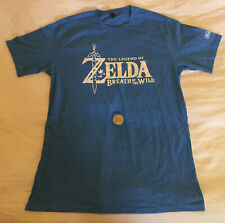 OFFICIAL ZELDA BREATH OF THE WILD L LARGE E3 2016 T-SHIRT AND COIN - SUPER RARE!