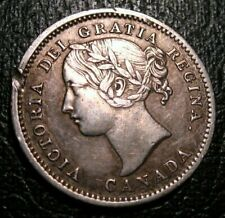 OLD CANADIAN COINS RARE CHOICE 1858 CANADA TEN CENTS  BEAUTY 10 c