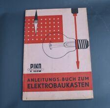 original DDR Piko Elektrobaukasten Buch Anleitung Spielzeug [3490-2]