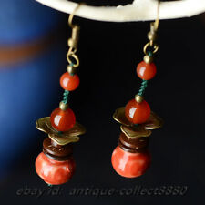 China Classical Agate/Ceramics Fashion Women Eardrop Earrings Ear Stud Pair 0322