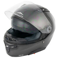 STEALTH FULL CARBON FIBRE FULL FACE INNER SUN VISOR MOTORCYCLE TRACK ROAD HELMET