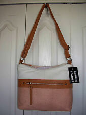 $99 GENUINE LEATHER Handbag Hobo Sachel Purse Shoulder Bag ST JOHNS BAY 2 Zipper