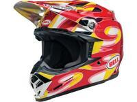 Casque moto cross BELL Moto-9 Mips McGrath Replica Gloss Red/Yellow/Chrome 2020