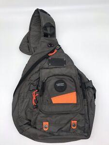KaweiKnight Large Sling Bag/Backpack Cross Body Messenger Shoulder- Gray/Orange