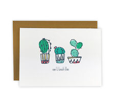 Can't Touch This Set of 10 Illustrated Cactus Note Cards, Boxed Stationery Set