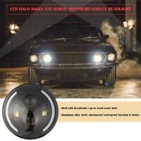 7 Inch 300W CREE Round LED Headlights Fit Jeep Wrangler TJ JK Halo Angel Eyes AU