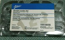 """ATECO 9 Piece Number Cookie Cutter Set Ateco #7803 /  3"""" Stainless Cutters"""