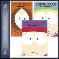 SOUTH PARK-COMPLETE SEASONS 1 2 3 4 5 6 7 8 9 10 11 12 13 14 15 *BRAND NEW DVD *