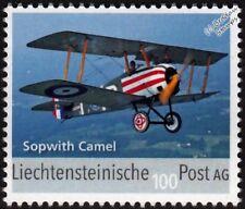 Old Rhinebeck SOPWITH CAMEL WWI Replica Aircraft Stamp (2017 Leichtenstein)