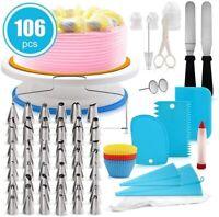20 42 73 106PCS Cake Decor Kit DIY Baking Supplies Turntable Set Spatula Stand