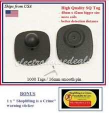 1000 Eas Anti Theft Checkpoint Compatible Rf 82mhz Security Tag Pin Bonus