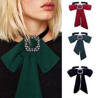 Fashion Women Bow Tie Bwoknot Neck Tie Choker Statement Chunky Collar Necklace