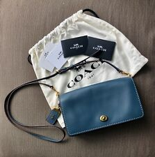 Coach Dinky Glovetanned Blue Leather cross body bag (REPRICED)