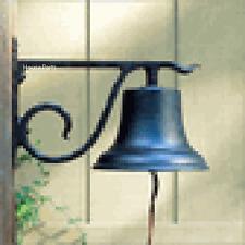 Whitehall Bell w/ bracket  Dinner Large Country Bell Black