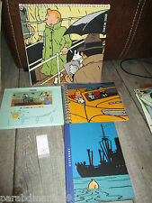 Vente Hergé-lot Tintin-Ancienne papeterie-Cahiers,calendrier,bloc notes.....
