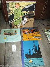 Vente Hergé-lot Tintin-Ancienne papeterie-Cahiers,calendrier,bloc notes.....
