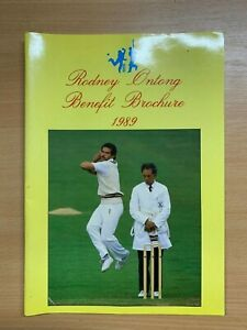 1989 RODNEY ONTONG CRICKET BENEFIT LARGE ILLUSTRATED BROCHURE