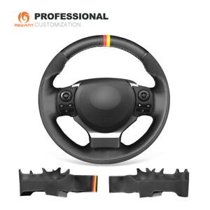 Black Leather Steering Wheel Cover for Lexus IS200t IS250 IS300 IS350 IS F-Sport