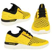 SUPRA NEW MENS FLOW RUN SHOES MID TOP CASUAL DESIGNER TRAINERS IN GOLDEN YELLOW