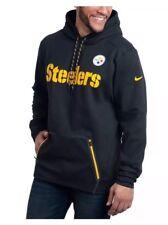 Nike NFL Pittsburgh Steelers Therma Hoodie - Sz Small - 853364-010 - Black